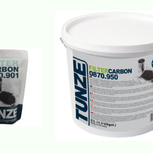 Tunze Special Filter Carbon Special filter carbon, pH neutral, highly activated area of abt. 1,000 m² / g. Decolorizes and detoxicates fresh and salt water over night.