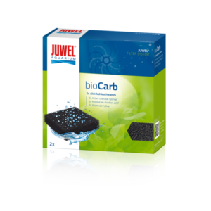 BioCarb - Carbon Sponge JUWEL Carbon Sponges absorb odour compounds and turbidity as well as toxic compounds in your aquarium, leaving the water crystal clear. The fact that active charcoal in the form of a sponge is used guarantees  even flow conditions for the filter medium, creating a very large and therefore highly effective surface. Due to these characteristics JUWEL charcoal filters are also perfect for filtering out residual medication after treating your fish. They are available in three sizes, in packs of two.