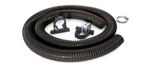 Tunze Outlet Pipe set 1075/2 consisting of a special outlet hose (2 m) ø 40 mm with clamps and holding devices for the outlet boxes.