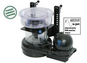 """The Tunze Classic Doc Skimmer A pressure pump is used to produce air bubbles directly at a new high-performance nozzle. The air bubbles range between 0.1 & 0.4 mm in diameter. The DOC Skimmer has a very high capacity at a minimum of space required and power consumed ratio. The air output is 650 l/h at a power consumption of just 21 with these devices take the lead in todays motor-driven skimmers for the marine aquarium. For skimming in containers or cabinets with variable water levels of 120 mm (4.7 """") - 290 mm (11.4"""") Air generation by Hydrofoamer fitted with a high-performance nozzle Extremely low noise and compact size Special nipple for connection of ozone SIZE L.280 W.157 H.483"""