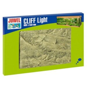 The Juwel Cliff Light colour background is a realistic image of a light sand-coloured rock. The distinctive 3-D structure gives your aquarium a fascinating illusion of depth at a very low installation depth just 1-3 cm. As part of the Cliff Light decorative range this colour background goes perfectly with the matching filter cover terraces and decorative stones. The Cliff colour backgrounds are made of a highly condensed polyurethane coated with epoxy resin. This complex production process makes it particularly easy to cut the colour background to size whilst providing an extremely tough colourfast surface. Easy to cut to size - Easy to assemble with JUWEL Conexo - Modular expansion possible - Raw edges hidden by natural overlap - Suitable for use with saltwater aquariums - Measurements 60 x 55 x 3 cm