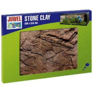 The Juwel Stone Clay colour background is a realistic image of a clay-coloured rock face. The distinctive 3-D structure gives your aquarium a fascinating illusion of depth at a very low installation depth of just 1-3 cm. As part of the Stone Clay decorative range this colour background goes perfectly with the matching filter cover. The Stone Clay colour backgrounds are made of a highly condensed polyurethane coated with epoxy resin. This complex production process makes it particularly easy to cut the colour background whilst providing an extremely tough colourfast surface. Easy to cut to size - Easy to assemble with JUWEL Conexo - Modular expansion possible - Raw edges hidden by natural overlap - Suitable for use with saltwater aquariums - Measurements 60 x 55 x 3 cm