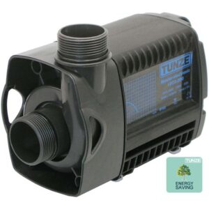 """Tunze Silence Pro Pump 1073.110 Pumping power: 11,000 l/h (2,906 US gal./h). Energy consumption: 95 to 125W depending on counter-pressure Pumping head: 4.5 m (177 in.), 1 1/2"""" hose connection Voltage / frequency: 230 V / 50 Hz (115 V / 60 Hz). Cable length: 3 m (118 in.). Dimensions without outlet and suction cups: 242 x 120 x 160 mm (9.5 x 4.7 x 6.3 in.)."""