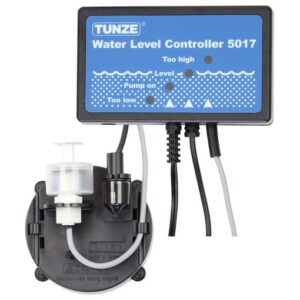 Tunze Universal Osmolator / Automatic Top Up 3155.000 Water level regulator with two sensor holding devices, extension and numerous fastening accessories. It is suitable for cabinet filter plants in TUNZE Comline filters or on the edge of the aquarium. This osmotic regulator can also be used in TUNZE SYSTEM cabinet filter plants. The sensors can be stuck to glass surfaces or can be fitted directly to the edge of the tank. Delivery condition: Ready for mounting with power supply unit, metering pump, hose, sensor holding device. Metering pump capacity: 0.9 m: 52 l/h, 1.5 m: 47 l/h, 2 m: 27 l/h, Height max: 2.2 m