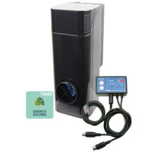 """Tunze Wave Box 6214.000 For aquariums from 400 to 1,400liters (106 to 370USgal.) Immersion depth: 255 to 285 mm (10 - 11in.) Energy consumption: average 26 W at 24 V Power supply unit: 100-240V / 50-60Hz, Dimensions with Magnet Holder (L x W x H): 140 x 110 x 300 mm (5.5 x 4.3 x 12in.) Silence Magnet Holder up to a glass thickness of 19 mm (3/4"""")."""