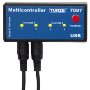 """Tunze Multi controller 7097.000 The Multi controller 7097 is a unit of preset for all the electronic turbelle ® pump's and for tunze ® Leds, adjustable and programmable by computer through a USB connection. It is equipped with a microprocessor with memory and real-time clock incorporated. Together with the turbelle pump's ®, the multi controller 7097 is capable of creating all the conditions of a marine environment in the aquarium, as well as to simulate the waves and the tides, IE generate oscillating currents, ensure a reduction in night, to the function """"storm"""" for the DE sedimentation, simulate the adjustment to the seasons etc. In addition, they may be linked of tunze ® Leds for a autonomous adjustment of the channels of colours, for the simulation of the sunrise and sunset, for the adaptation to the seasons, for the moon light etc. As an optional, you can connect a Photo Cell autonomous."""