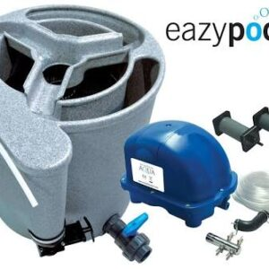 A compact member of the Nexus family, the EazyPod is a mechanical and biological filter system for garden ponds up to 20,000 litres or Koi ponds up to 10,000 litres. The EazyPod utilises static K1 Media, which provides enhanced biological benefits, even when using the EazyPod solely as a mechanical waste filter.