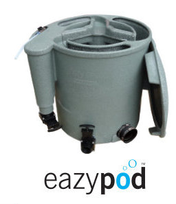 The EA Easypod is a compact member of the Nexus family, the EazyPod is a mechanical and biological filter system for garden ponds up to 20,000 litres or Koi ponds up to 10,000 litres. The EazyPod utilises static K1 Media, which provides enhanced biological benefits, even when using the EazyPod solely as a mechanical waste filter.