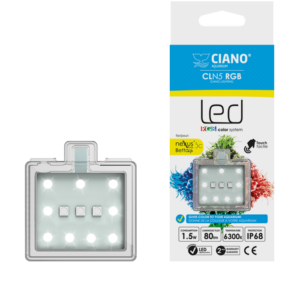 CLN5 RGB Ciano® is a touch, certified system that delivers optimum performance with reduced power consumption. With the RGB CLN5, you can opt for white lighting or activate the RGB system which gives you distinct illumination through the automatic color transition (Red, Green and Blue).