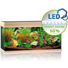 The Most Popular Juwel Aquarium: Juwel Rio 180 LED The RIO 180 LEDcombines the classic rectangular shape with the latest equipment. With its compact surface of 101 x 41 cm and classic rectangular design, the RIO 180 LEDwill fit perfectly into any design scheme. Its safety base frame ensures especially safe positioning and allows you to set up your aquarium easily, with no need for special supports. Painstaking workmanship from Germany, top-quality materials and perfectly tuned technology guarantee the very best quality and safety, meaning a long service life for your RIO 180 LED. Choose from black, dark wood, light wood and white.