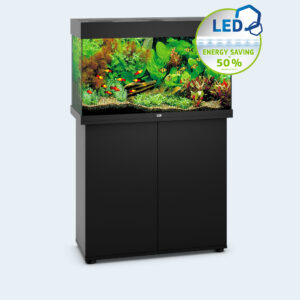 A perfect match: the juwel base cabinet Your aquarium definitely stands on solid ground with the matching base unit. The two are even optically the perfect duo due to the fact that the base unit is available in the colours of the aquarium. The very easy assembly and the generous storage space, for example for feed, do not leave any desires unfulfilled when it comes to pragmatism. In fact, all that is left for you to do is simply to enjoy your beautiful style accessory every day! Available in Light Wood, Dark Wood, Black and White. Cabinet Only.