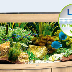 Elegant in appearance and perfectly matching details! At 92 cm wide, the VISION 180 LED is the smallest aquarium in the VISION range. Thanks to its curved front panel, the VISION 180 LED has great presence – and not only in small rooms. The safety base frame ensures especially safe positioning and allows you to set up your aquarium easily, with no need for special supports. Painstaking workmanship from Germany, top-quality materials and perfectly tuned technology guarantee the very best of quality and safety, meaning a long service life for your VISION 180 LED. Available in White, Black, Light Oak and Dark Oak.