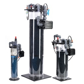 New Model Deltec NFP Nitrate Filters are a simple and efficient way of reducing the nitrate level in your aquarium. The new units are alcohol fed which can be added by syringe, osmotic bag or by a specifically designed peristaltic pump and are capable of being pressurised so that they can sit in a cabinet below the tank if you do not have a sump. Features of the new nitrate reactor are: Ease of cleaning via fully removable lid. Large bore exit pipes that will not block. Special media that will not choke up with dead bacteria.