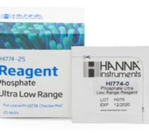 The HI774-25 are the replacement reagents for the HI774 Phosphate Ultra Low Range Checker®HC. These high-quality reagents are manufactured in our state-of-the-art facility and are clearly marked with the lot number and expiration date on each packet for traceability. Pre-made reagents for ease of use Prepared with high purity chemicals Marked with expiration date and lot number for traceability Phosphate Ultra Low Range Checker® HC Reagents (25 Tests) The HI774-25 are high-quality reagents that are pre-measured, allowing for users to achieve fast and accurate measurements with their Phosphate Ultra Low Range Checker® HC. These reagents follow the Ascorbic Acid Method in which the reaction between phosphorus and reagents causes a blue tint in the sample. By simply adding the packet of HI774-25 reagent to the sample, the reaction will take place and the HI774 will determine the concentration from the color that is produced. The results will be displayed in ppb of phosphorus.