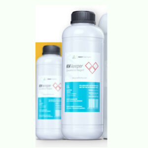 The KH keeper Reagent Mix with RO water = 1 L Reagent with 9 L RO Water Average 1L Reagent provides 1,429 tests