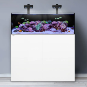 "The Waterbox FRAG systems are an industry first. The FRAG series provides advanced hobbyists a way create the ultimate shallow reef aquarium. The FRAG height is 16"" compared to the typical 21-24""."