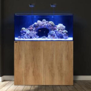 The MARINE X series was designed with entry-level aquarium enthusiasts in mind. Each MARINE X series model includes the aquarium, laminated plywood cabinet, sump and plumbing kit.