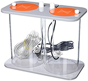 This attractive fluid containment system stores your dosing fluids in style and even tells you when it's time to refill! Each side stores two liters (2L) of fluid Connects directly to your DOS Optical sensors inform your APEX when levels are low Strong, cast-acrylic construction Low-profile – won't easily tip over