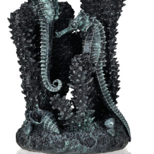 Biorb Black Seahorses on Coral - Small As different as in the sea: from small to large and from discrete to a dazzling explosion of colour Easy to clean and quickly removed, a new ambience consistently occurs Through individual design in terms of variety, form and colour the creation of a very personal, unique biOrb is possible. True-to-life, high-quality workmanship and firm stance Exclusive design of the renowned Samuel Baker The seahorses on coral create an exciting centrepiece in the biOrb Create contrasts with a natural or metallic-black colour scheme Perfect for the decorative sheathing of the air tube, thanks to the opening on the bottom of the sculpture intended for this purpose 360 degree model: nice to look at from all sides Fantastic sculpture for staging your household underwater theatre Small Seahorses on Coral 96 x 85 x 145