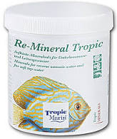 """""""Re-Mineral F"""" is a powder additive forfreshwater aquariums which replaces valuable, natural minerals which are removed, along with harmful substances, by reverse osmosis and de ionising water purification systems. In addition, they help to raise the alkalinity of the water and stabilise it at an optimum level. Just like the world famous """"Tropic Marin Sea Salt"""", these products are made from the most natural, pharmaceutical grade ingredients and add no harmful by products, nitrates or phosphates to the water."""