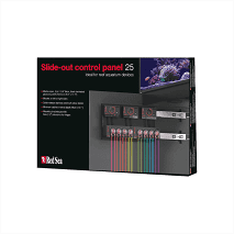 The Red Sea Control Panel 25 is designed to fit either side of your cabinet, and is made of marine-spec laminated plywood with quick-release stainless steel soft-close sliders, allowing for easy mounting and access to all your equipment. Designed with hobbyist needs in mind, Red Sea's new slide-out Control Panel helps you to get the most out of your cabinet space by placing your dosers, controllers and other devices in one easily accessible place.