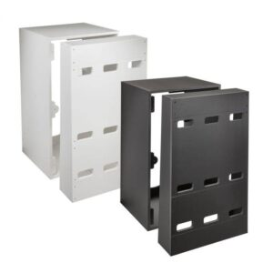 The New Adaptive Reef Controller Cabinet is a modular wire management system for your aquarium equipment. Using interchangeable faceplates, you can mount and display all manner of controllers, modules, and dosers in a clean professional way to the front of the cabinet. On the inside, you can hide all your cords and power bricks. You'll be able to safely mount power supplies, power strips, and organize your cords so they don't detract from the beauty of your aquarium.